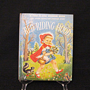 Vintage A Two-In-One Wonder Book The Three Little Pigs & Little Red Riding Hood 1954 First Edi