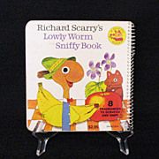 SALE 15% OFF Vintage Richard Scarry Book Lowly Worm Sniffy Book 1978 Excellent Vintage Conditi
