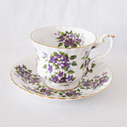 Vintage Bone China Royal Albert Springtime Series Violets Cup & Saucer 1960s Like New Conditio
