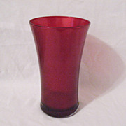 SALE 20% OFF Vintage Ruby Flashed Red Vase 1960s Excellent Condition