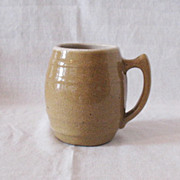 Nice Vintage UHL Tan Speckled Pottery Mug #16 Huntingburg Indiana 1908-1944 Very Good Conditio