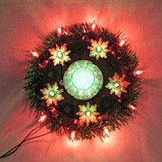 SALE 20% Off~Vintage Collectible 16-Lite Wall/Window/Door Round Christmas Light 1950-60s Works
