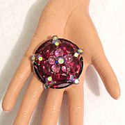 REDUCED Exquisite Vintage Juliana D&E Brooch Red & Pink Sapphire Colored Rhinestones~UNWORN~