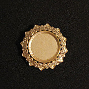 SALE Lovely Vintage Floral Repousse Photo Brooch or Pin