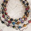Vintage Venetian Millefiori Glass Beaded Necklace & Bracelet Set~Floral