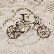 Vintage Sterling Hand Crafted Mechanical Bicycle~Book!