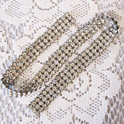 Wonderful Vintage Prong Set Rhinestone Appliqu�