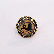 Vintage Costume Jewelry Scorpion Zodiac Brass Ring