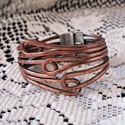 Awesome Rame Modernist Vintage Copper Clamper Bracelet