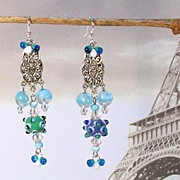 COSMIC FUN ............Beaded Pierced Earrings by Temptations