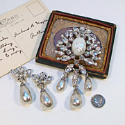 SOLD Please DO NOT Buy unless you are Meryl C.......SCHREINER New York Brooch & Earring Set De