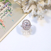 Ladies' 14 Karat White GOLD & DIAMOND Ring w/ written Appraisal of $4,200