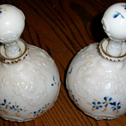 Victorian Milk Glass Decanter