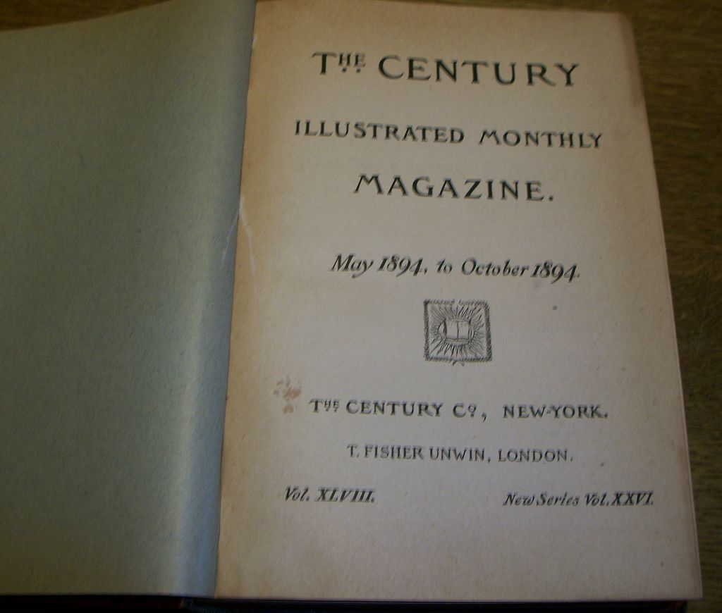 May 1894 to October 1894 Century Illustrated Monthly