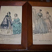 Two Small French Fashion Prints
