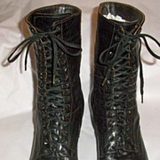 Larger Size Black Edwardian Boots