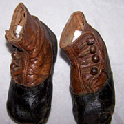 Tiny Victorian Button Baby Shoes