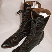 Supple Black Victorian Boots