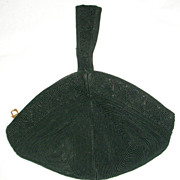 30's or 40's Black Corde Purse
