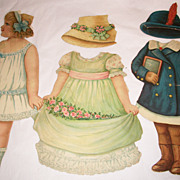 Victorian German Paper Doll (As Is)