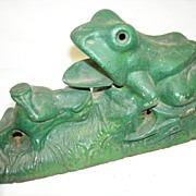 2 frogs mechanical bank, J&E Stevens, circa 1882