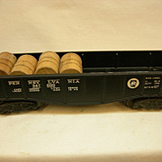 Vintage Lionel Pennsylvania 347000 black gondola car # 6452 built 1945