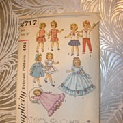 "Simplicity Vintage Shirley Temple Doll Pattern for 12"" Dolls"