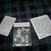 "Vintage Terri Lee Booklet, Newsletter and Admission Card for the 16"" standard Terri Lee D"