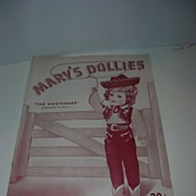 Vintage Original Mary Hoyer Pattern #12 Booklet