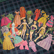 Vintage Movie Star &quot;Betty Grabel&quot; Paper Dolls & Clothes