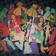 Vintage Movie Star &quot;Ann Blyth&quot; Paper Dolls & Clothes