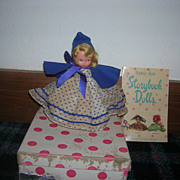 "Vintage Boxed Bisque Nancy Ann Storybook Doll - ""Rain Rain Go Away #170"