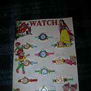 Mint Display Card of 12 Toy Watches for Children with Snow White & 7 Dwarfs