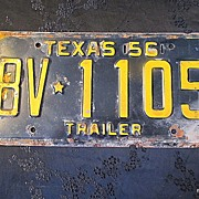 SALE 1956 Texas License Plate Authentic Birthday/Decor