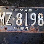 SALE 1964 Texas License Plate Collector/Birthday/Decor