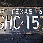 SALE 1966 Texas Authentic License Plate Collector/Birthday/Decor