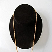 REDUCED Fancy 24&quot; Goldtone Rope Style Necklace
