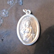 REDUCED St Lucy Patron Saint For Eyesight & Other Gifts Medal