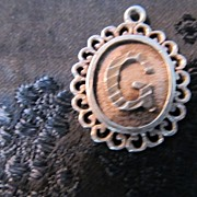 "REDUCED Sterling Silver Scalloped ""God"" Medallion"
