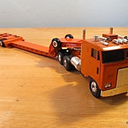 Freightliner Twin Screw Cabover & Talbert Triple Axle Narrow Beam Trailer