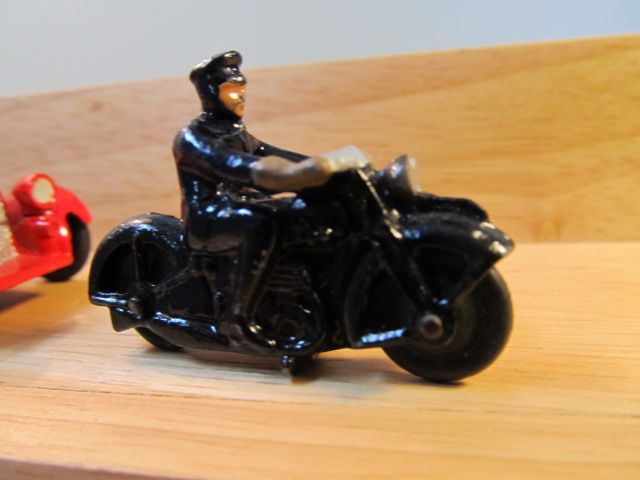 Dinky Toy 37b Police Motorcycle With Dude
