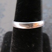 Sterling Silver Inspirational Engraved Jesus Ring Size 6