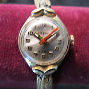 Lady's 17 Jewel Helbros Wristwatch 1950's Retro