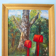 Country Mail Boxes Oil By Marie Baker Forsythe Missouri