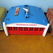 Plasticville Airplane Hangar Bachman 1960's With Box