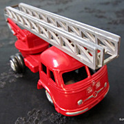 German Built Gama 1960's Fire Ladder Truck 1/43 Scale Die Cast