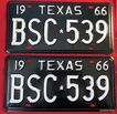 1966 Texas License Plate Pair Beautiful NOS