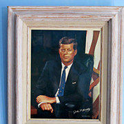 John F Kennedy Color Photograph 11 X 14 & Frame.