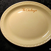 Union Pacific & Chicago North Western Railroads The Challenger Dining Car China Plate