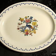 Milwaukee Road Railroad Peacock Dining Car China 7&quot; Oval Plate